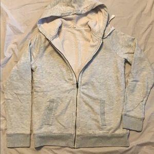 J. Crew fleece lined zip up hoodie